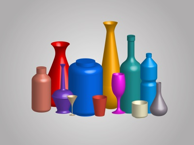 3D Experiment gradient stroke colorful vector illustration symbol design identity branding 3d 3d art