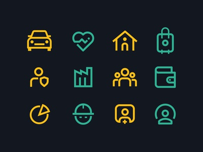 Service Icons lined icons icons service icon ux ui vector illustration symbol identity design branding icon