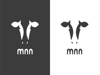 MAA MAA maa diary milk cow animal icon illustration symbol identity design logo branding