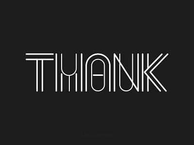 THANKYOU text creative illustration symbol identity design branding thankyou type typography typo