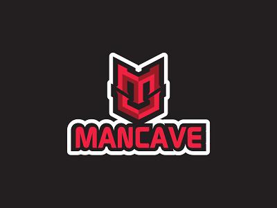 Mancave Gaming Logo illustration cave man logofoloio gaming logo mancave logomark symbol identity design icon logo branding