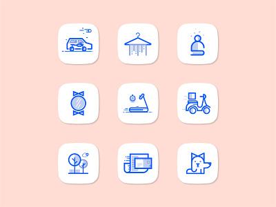 App Icons Set icon branding ui ux vector icon set icons app icon logo illustration symbol identity design branding icon