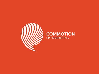 Commotion Logo Branding logo branding marketing pr commotion logomark vector illustration symbol identity design icon branding logo