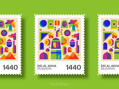 EID GREETING colorful illustration branding symbol icon icon islamicicon islamicart eid mubarak eid stamp