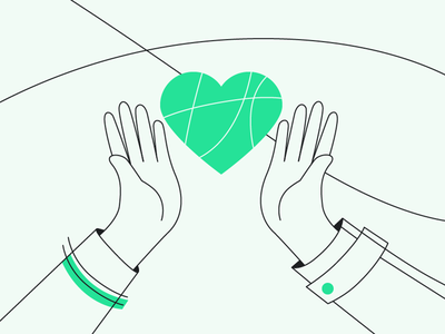 Nonprofit Organisation NPO donation website love heart minimalist minimal clean simplicity simple lines lineart line charity non-profit nonprofit npo character design illustration graphic design