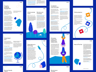 Building remote teams eBook freelance ebook layout ebook design workspace workplace remote teamwork infographics infographic illustrations illustration graphics graphic design ebooks ebook design character