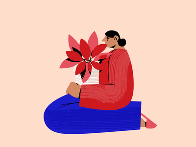 It is me and my plants now character design plants plant women woman art design people texture freelancer freelance home office home working from home work from home characters character graphic design illustration