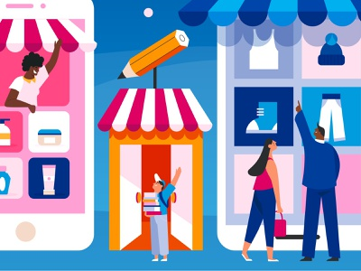 Online shopping characters people illustration illustrations mobile illustration app illustration shopping shop online marketing online shopping online store online shop simple character design illustration graphic design