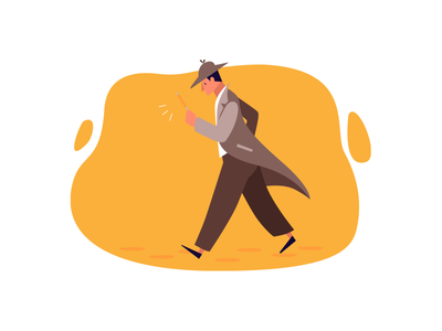 Search simple vector characters character design sherlock holmes sherlock searching search character art design graphic design illustration