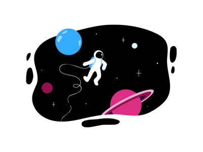 Space cosmic cosmos stars nasa universe sky planets spaceman space vector character art design graphic design illustration