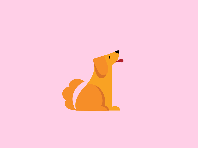 Dog simple illustration simple design simple animal cute animal cute dog illustration dog logo doggy dogs dog vector character design illustration graphic design