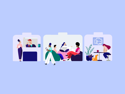 Illustrating for humans portfolio vector simple flat people character sales design marketing open space coworking creative office work teamwork team graphic design graphic illustrations illustraion