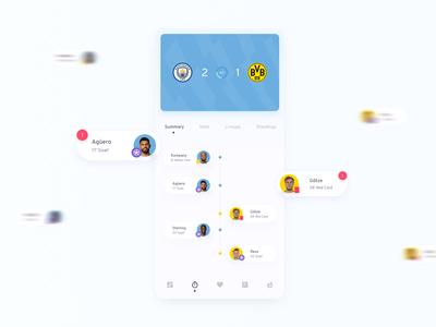 SmartScores Football Live Scores UI