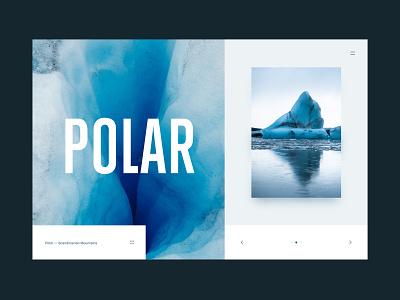 Polar - Photography portfolio page photgraphy typogaphy website flat ice web design clean ux ui