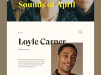 Article page - Portfolio Concept