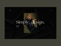 Simply, design - Streetwear Event Landing page.