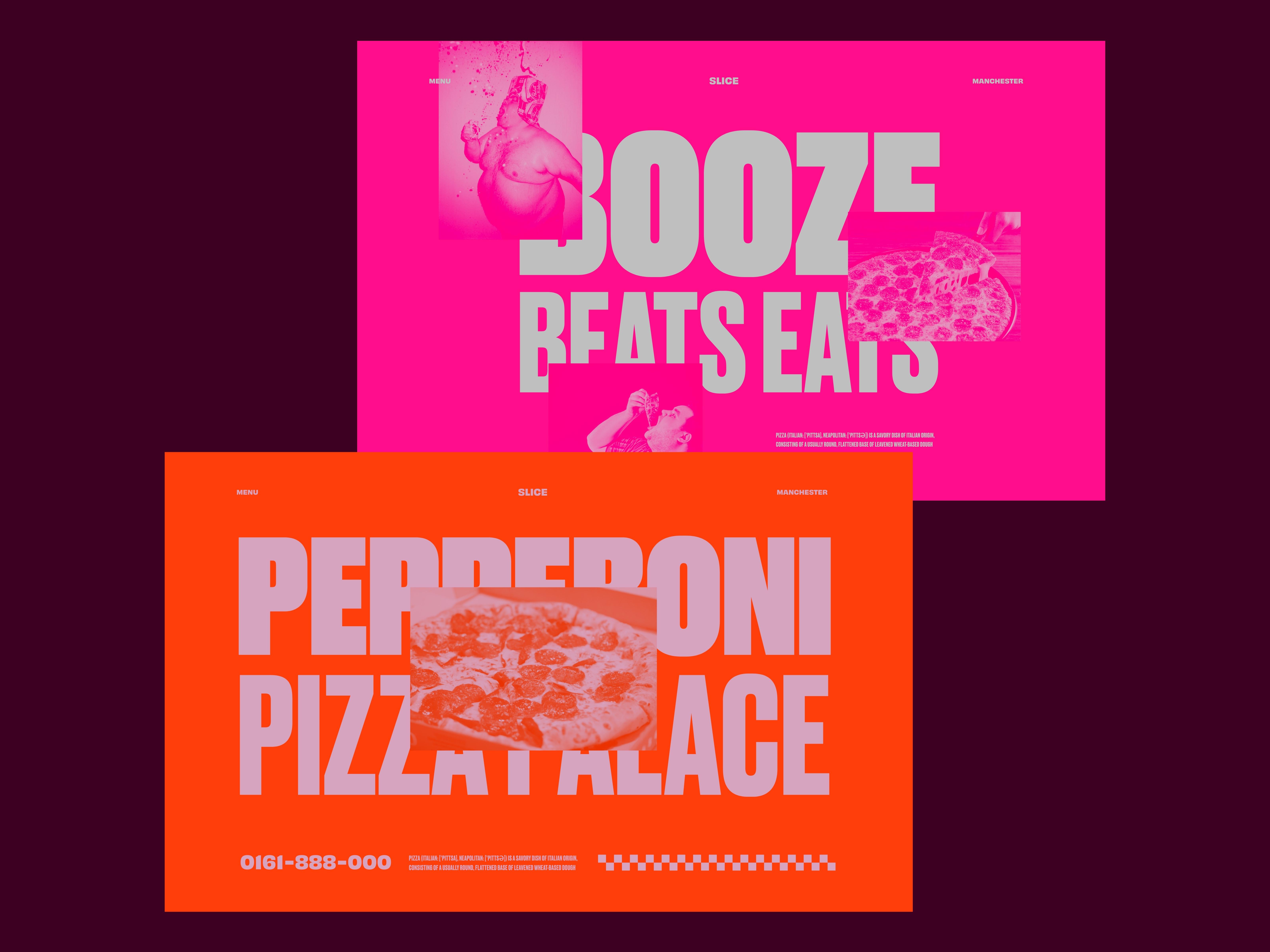 Slice Pepperoni Pizza Palace By Luke Dagnall On Dribbble