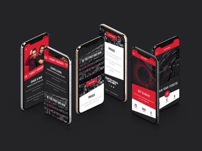 Ticket chaser mobile design mobile map chase win location webdesign ux design