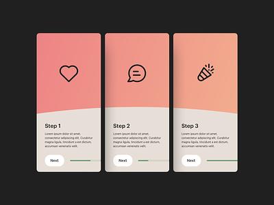 app onboarding app design app design ui design ui