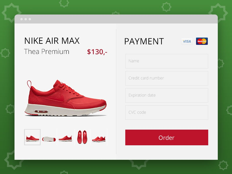 UI- credit card checkout payment order sneakers holiday userinterface style christmas creditcardcheckout