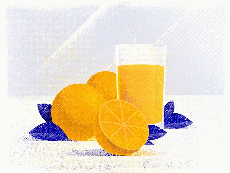Oranges reflection noise textured glass hellsjells spain sunny orange juice juice fruits still-life leaves grunge textures illustration oranges