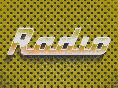 Radio - Typetober Lettering Illustration illustration radio inspiration speaker speakers glossy metal vintage metallic retrotype typetober inktober lettering typography type texture hellsjells