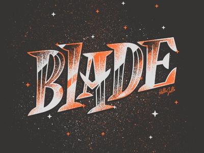 Blade - Typetober Lettering Illustration glossy custom type gritty cutting edge sharp knife typography typetober inktober2020 blade texture type illustration hellsjells