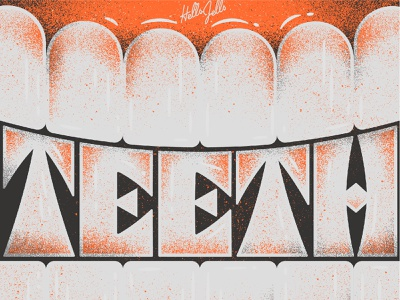 Fancy - Typetober Lettering Illustration gritty illustration gritty custom type mouth gums lettering tooth teeth inktober2020 inktober typetober typography texture type hellsjells illustration