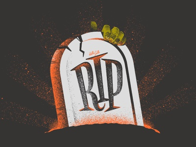 RIP - Typetober Lettering Illustration glow cartoon fun serif funky horror vector hellsjells lettering typography texture type illustration october halloween grave zombie rest in peace rip gravestone