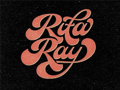 Rita Ray Logotype Concept logotype logo textured script funky and fresh funky funkadelic funk type disco retro vintage texture type hellsjells custom type lettering funk