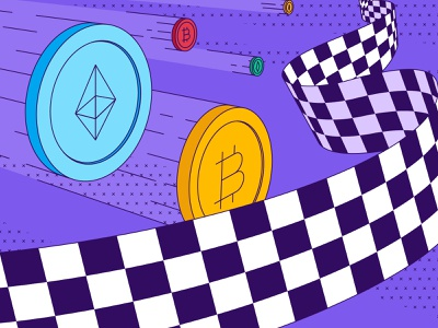 Blog Header - Crypto Race crypto platform paxful pricing coin bitcoin ethereum cryptocurrencies crypto competitive price race price financial race crypto price hellsjells illustration