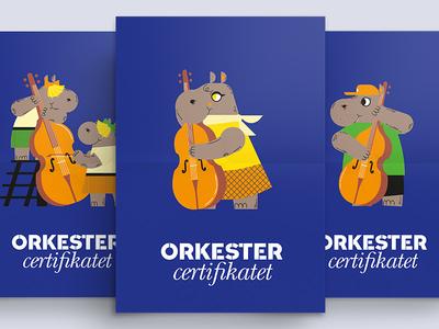 Orchestra Festival Hippo String Instrument Illustrations