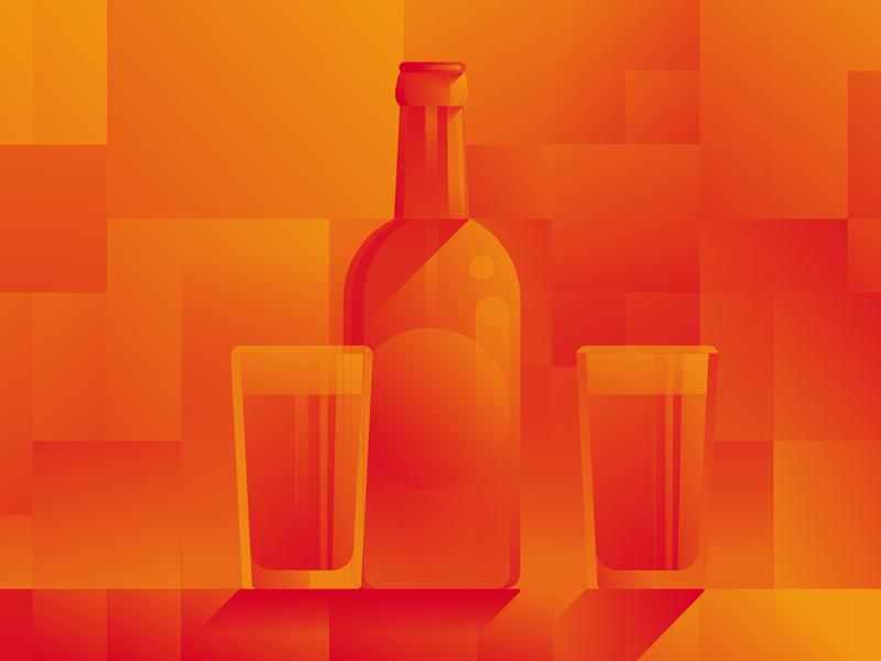Coinscrum Illustration I bitcoin stylish illustration modern bottle shadows webillustration web gradient glass meetups crypto