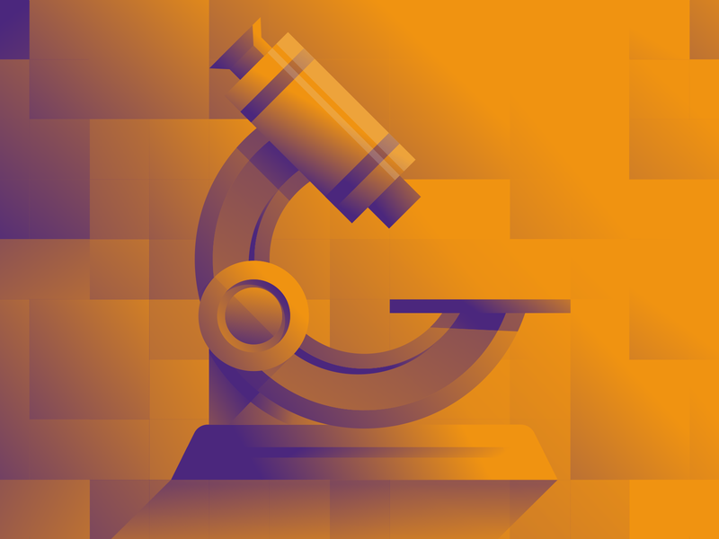 Coinscrum Illustration II microscope magnifier webillustration web stylish shadows modern meetups illustration gradient glass crypto bitcoin