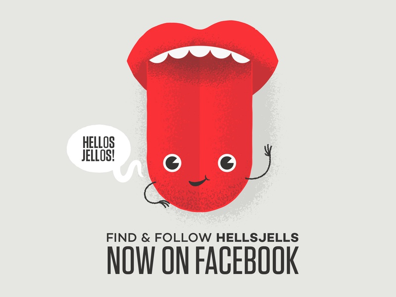 Happy Tongue Illustration social happy smiling facebook gradient texture hands hellsjells teeth mouth character face tongue