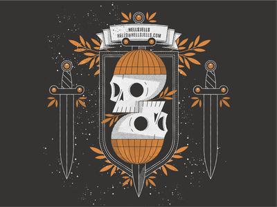 Skull Print Illustration Design