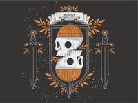 Skull Print Illustration Design
