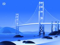 Golden Gate Illustration