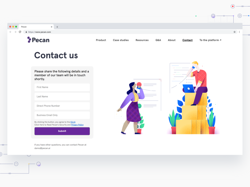 Contact Form Character illustration colorful hellsjells issues communication call woman man character noise digital ai machine learning ui illustration ui web get in touch contact illustration contact line illustration
