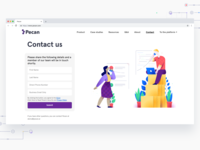 Contact Form Character illustration