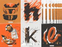 Personal Typetober Illustrations 2019 vol2