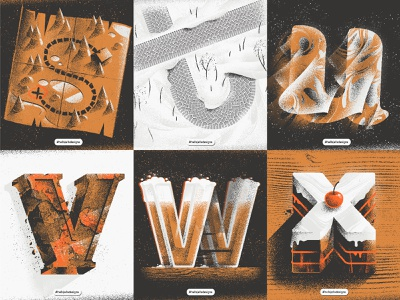 Personal Typetober Illustrations 2019 vol4 typetreatment letter design typetober type texture sword noise lowercase letters letter layout inktober illustration hellsjells grainy everydaydesign dailytype dailylettering composition 36daysoftype