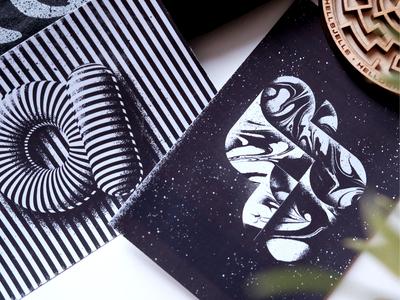 Typetober Illustration postcards 2019