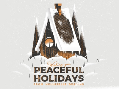 Peaceful Holidays from HellsJells icicle window roof homely peaceful greetings textures trees snowy hellsjells house hygge christmas happyholidays holidays snow cozy winter illustration