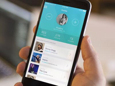 Free Sketch Music App Profile Mockup app ios profile music concert sketch