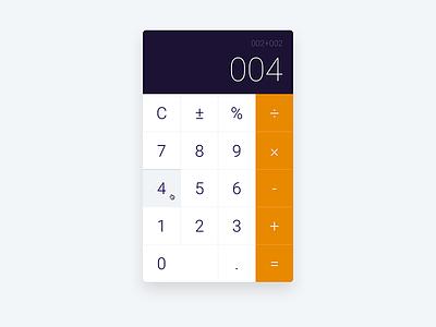 Calculator Mockup DailyUI004  calculator dailyui004