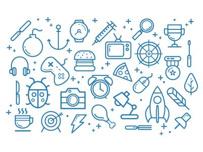 Pictos line illustrator debut blue pictogram vector firstshot icon picto