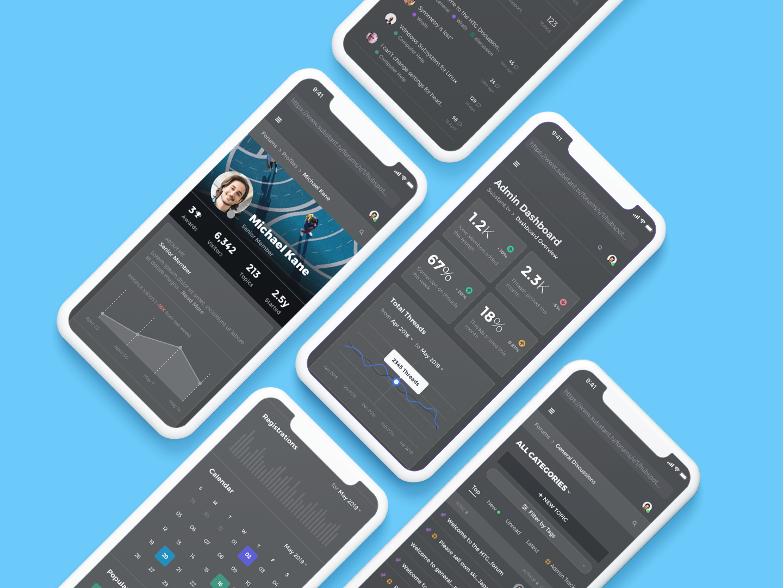 Forums Design iOS forums discourse forum ios dashboard app ux ui