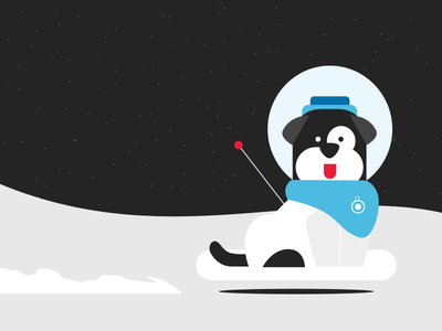 Space Pup space illustration
