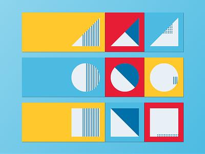 minimal envelopes simple stationary envelope red yellow blue minimal paper
